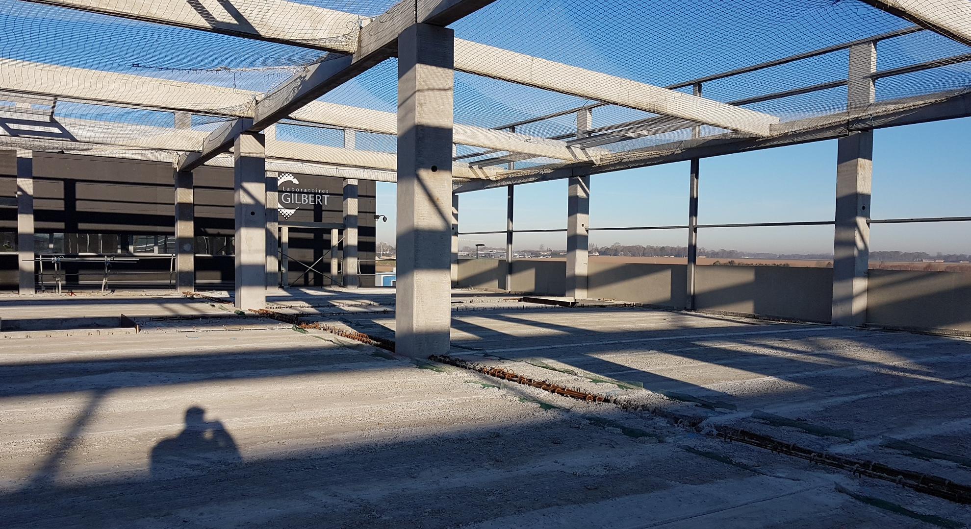 construction du batiment industriel Normandie
